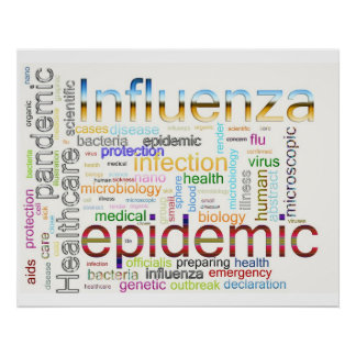 influenza flu Related Text Poster