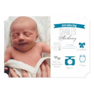 Infographic Birth Announcement - Boy