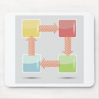 Infographic Element Mouse Pad