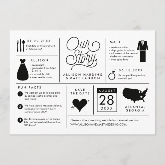 Infographic Save the Date Engagement Announcement