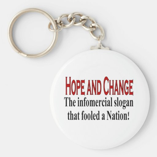 Infomercial slogan keychains