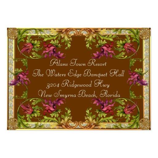 Información adicional de la invitación del boda de tarjetas de visita grandes