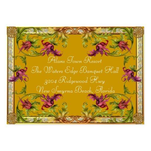 Información adicional de la mostaza para los bodas tarjetas de visita grandes