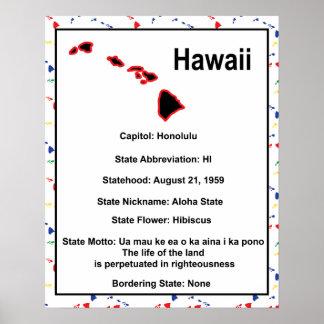 Información de Hawaii educativa Póster