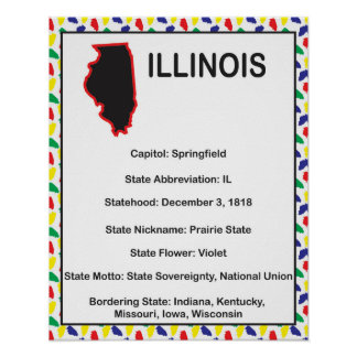 Información de Illinois educativa Póster