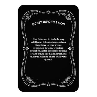 Información de lujo de la huésped del boda del invitación 8,9 x 12,7 cm