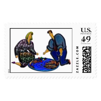 Información del tiempo en franqueo tridimensional sello postal