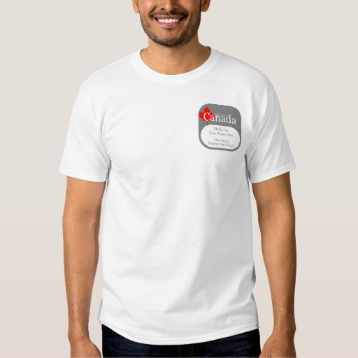 ¡Información falsa Canadá! Camiseta conocida Remeras