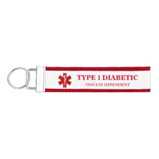 Información médica diabética llavero de pulsera