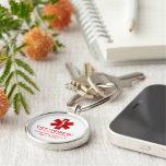 Información médica diabética llavero redondo tipo pin