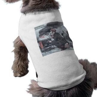 Información por la radio playera sin mangas para perro