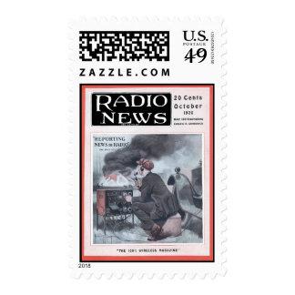Información por la radio sello postal