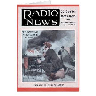 Información por la radio tarjeta de felicitación
