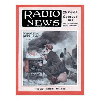 Información por la radio postales
