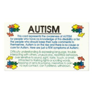 Informador del autismo tarjetas de visita