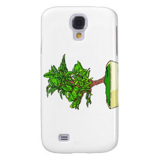 Informal Upright Bonsai Graphic 2 Leaves Samsung Galaxy S4 Cover