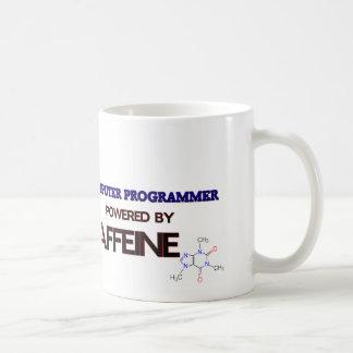 Informático accionado por el cafeína taza
