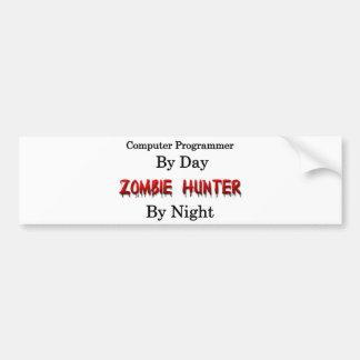 Informático/cazador del zombi pegatina para auto