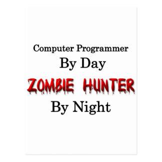 Informático/cazador del zombi postales