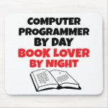Informático del aficionado a los libros tapete de ratón