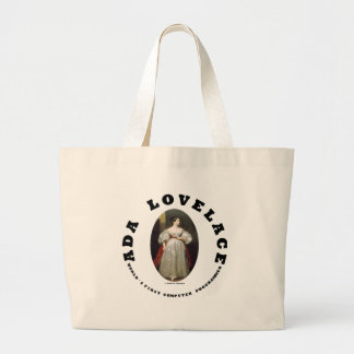 Informático del mundo de Ada Lovelace primer Bolsa Tela Grande