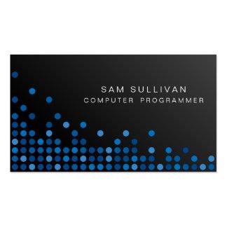 Informático ÉL puntos azules abstractos de las Tarjetas De Visita