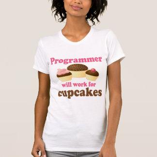 Informático lindo del empleo de las magdalenas camisetas