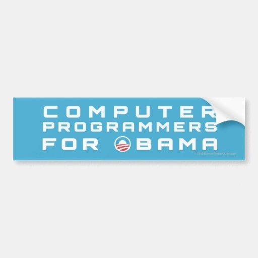 Informáticos de Favorable-Obama Etiqueta De Parachoque