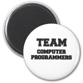 Informáticos del equipo imanes de nevera