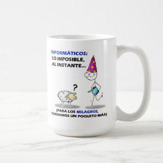 informáticos: lo imposible, al instante.... coffee mug