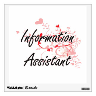 Information Assistant Artistic Job Design with Hea Wall Sticker