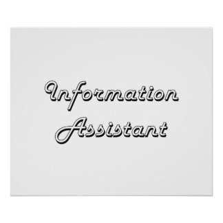 Information Assistant Classic Job Design Poster
