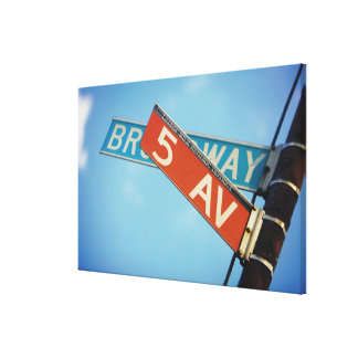 Information board in New York City Canvas Print