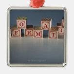 Information building blocks ornament