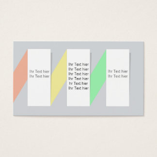 information business card