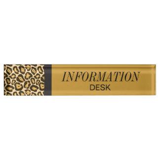 Information Desk Jaguar Nameplate