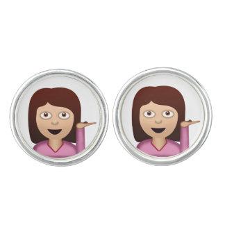 Information Desk Person Emoji Cufflinks