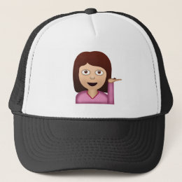 Information Desk Person Emoji Trucker Hat