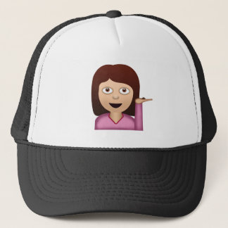 Information Desk Person Emoji Trucker Hat