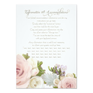 Information Driving Accommodations Floral Rose Card