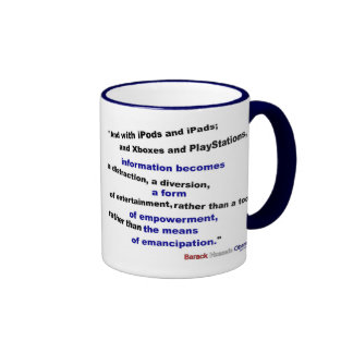 Information is a distraction ringer mug