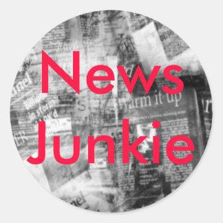 Information Junkie Customizable Sticker