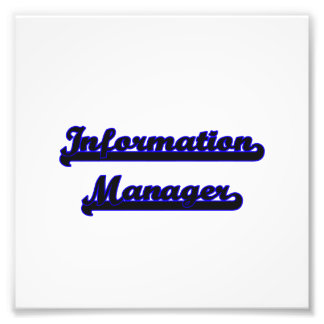 Information Manager Classic Job Design Photo Print