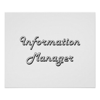 Information Manager Classic Job Design Poster