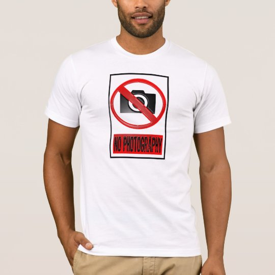 Information-No Photography-Red/Black T-Shirt