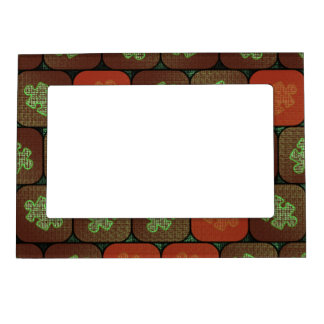 Information puzzle magnetic photo frames