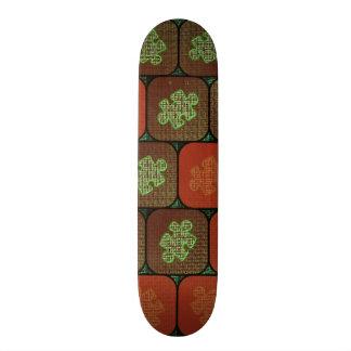 Information puzzle custom skateboard