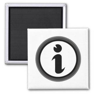 Information Symbol 2 Inch Square Magnet
