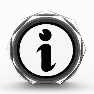 Information Symbol Acrylic Award
