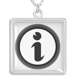Information Symbol Necklace